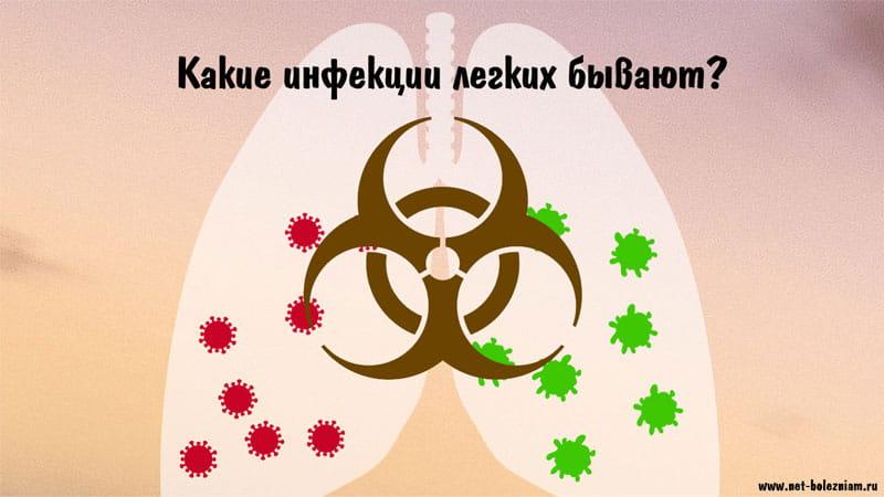 Какие инфекции легких бывают?