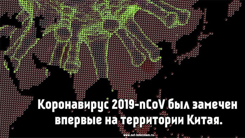 Коронавирус 2019-nCoV был замечен впервые на территории Китая.