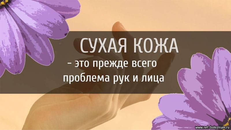 Сухая кожа - это прежде всего проблема рук и лица.
